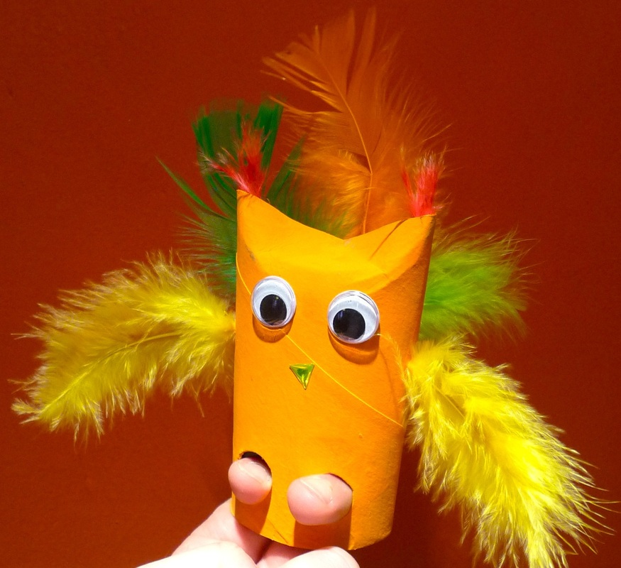 Loo roll crafts: finger puppet