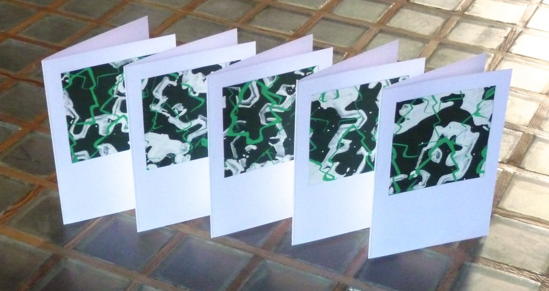 Hand-printed Christmas cards