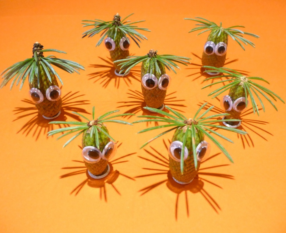 Baby pine cone monsters